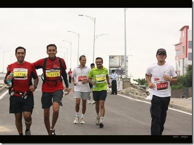 Balaji and I running